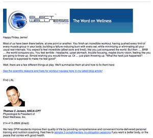 E-Coaching from Thomas, Founder of Elect Wellness